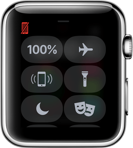 Image of a disconnected Apple Watch