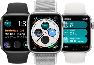 Configure your Watch Face on Apple Watch to create your own personal Surf Watch